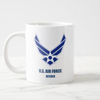 U.S. Luftwaffe pensionierte Spezialitäten-Tasse Jumbo-Tasse