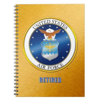 U.S. Luftwaffe pensioniertes gewundenes Spiral Notizblock