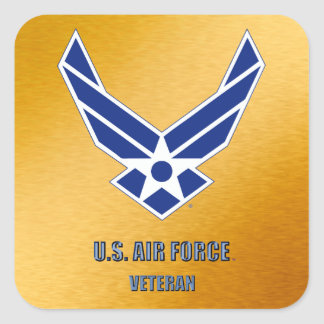 U.S. Luftwaffe zurückgezogen Quadratischer Aufkleber