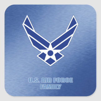 U.S. Luftwaffen-Familien-Aufkleber Quadratischer Aufkleber