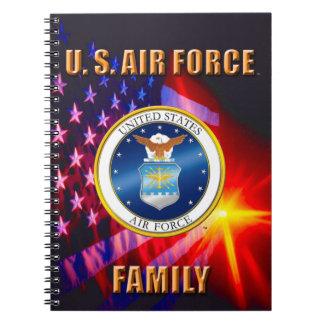 U.S. Luftwaffen-Familien-Spirale-Foto-Notizbuch Notizblock