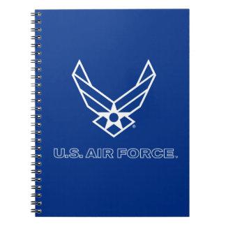 U.S. Luftwaffen-Logo - Blau Notizblock
