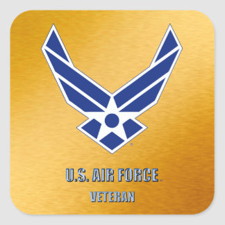 U.S. Luftwaffen-Tierarzt-Aufkleber Quadratischer Aufkleber