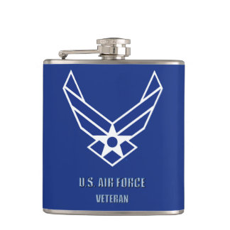 U.S. Luftwaffen-Tierarzt-Vinyl eingewickelte Flachmann