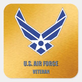 U.S. Luftwaffen-Veteranen-Aufkleber Quadratischer Aufkleber