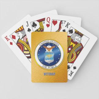U.S. Luftwaffen-Veteranen-klassische Spielkarten