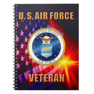 U.S. Luftwaffen-Veteranen-Spirale-Foto-Notizbuch Notizblock