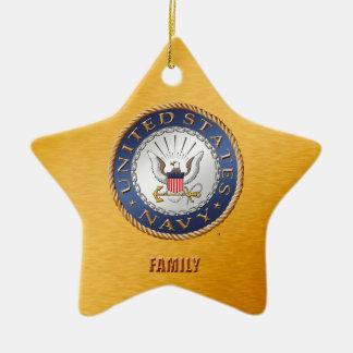 U.S. Marine-Familien-Keramik-Verzierung Keramik Stern-Ornament