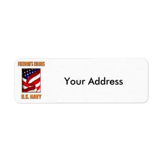 U.S. Marine-Rücksendeadressen-Aufkleber