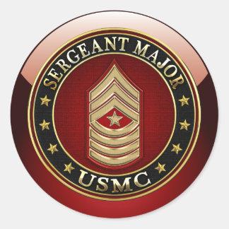 U.S. Marines: Sergeant Major (USMC SgtMaj) [3D] Sticker