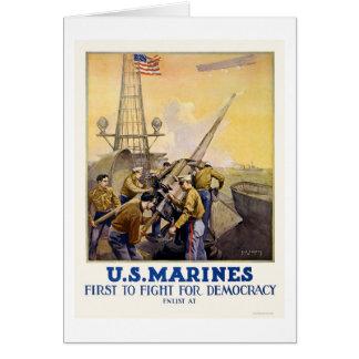 U.S. Marinesoldaten - zuerst für Demokratie Karte