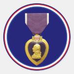 U.S. Militärischer lila Herz-Medaillen-Aufkleber