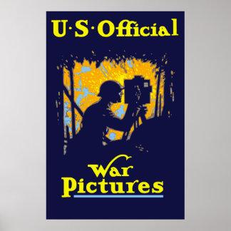 U.S. Offizielle Kriegs-Bilder Poster