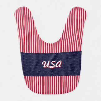 U.S. Patriotische Feier von Nationalfeiertagen Babylätzchen