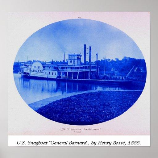 "U.S. Snagboat ""General Barnard"" 1885 Plakat"