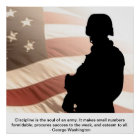 U.S. Soldat mit George- Washingtonzitat Poster