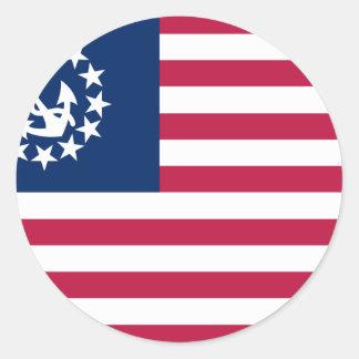 U.S. Yacht Round Stickers