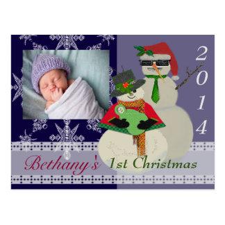 U wählen das erste Weihnachten des Postkarte