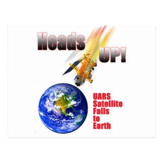 UARS Satelitte fällt zur Erde Postkarte