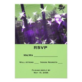 UAWG Bäume und Sterne abstrakt 8,9 X 12,7 Einladungskarte