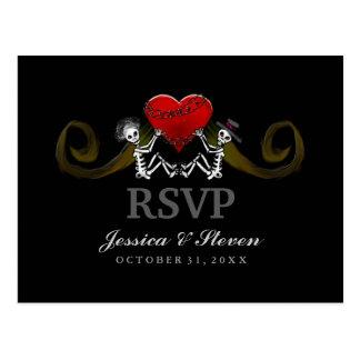 UAWG das Postkarte - Skelette mit Herzen Wedding