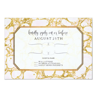 UAWG erröten Rosen-Goldmarmor gemarmorte 8,9 X 12,7 Cm Einladungskarte