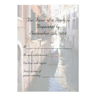 UAWG für venezianische Themed Hochzeit Individuelle Einladungskarte