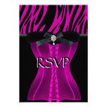 UAWG Geburtstags-Rosazebra-Schwarz-Kleid Personalisierte Einladung