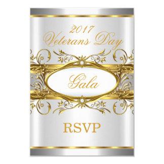 UAWG Goldsilber-Weiß und Goldplaketten-Party 8,9 X 12,7 Cm Einladungskarte