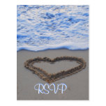 UAWG Herz im Sand am Strand Postkarten