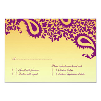 UAWG Hochzeits-Karte mit Nahrungsmittelwahl 8,9 X 12,7 Cm Einladungskarte