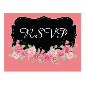 UAWG hübsches rosa und schwarz Postkarten