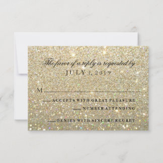 RSVP Card - Gold Glitter Fab