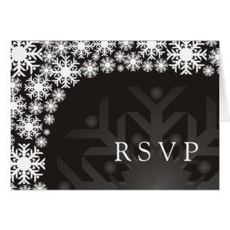 UAWG Karte - Schneeflocke-Winter-Hochzeit