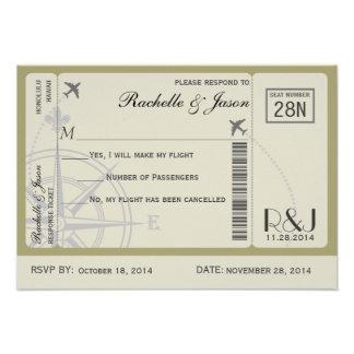 UAWG Karten-Fluglinien Einladungskarte