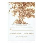 UAWG-Karten Hochzeit des braunen alten Baums Personalisierte Einladungen