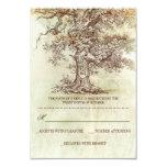 UAWG-Karten Hochzeit des braunen alten Baums Individuelle Einladungskarten