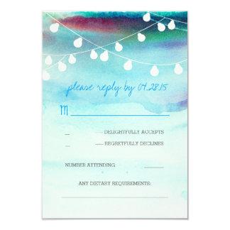 UAWG-Karten Hochzeit modernen Strand Watercolor 8,9 X 12,7 Cm Einladungskarte