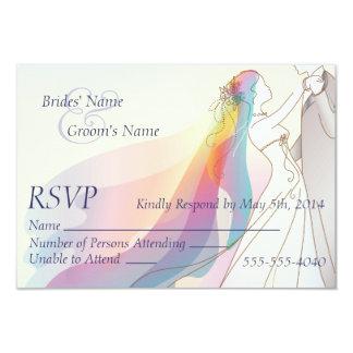UAWG - Regenbogen-Braut-u. Bräutigam-Hochzeit 8,9 X 12,7 Cm Einladungskarte