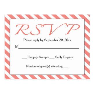 UAWG rosa u. weiße Streifen-Hochzeit/Party Postkarte