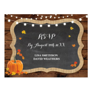 UAWG Wartekürbis-Hochzeit im Herbsts-Postkarte Postkarten