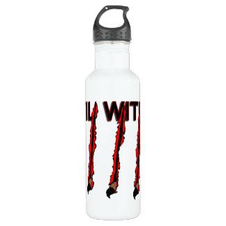 Übel innerhalb der Greifer-Kennzeichen Trinkflasche