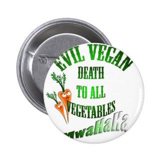 Übel vegan runder button 5,1 cm