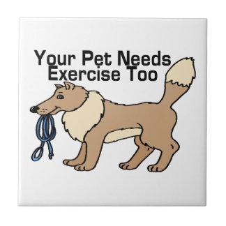 Üben Sie Ihr Haustier aus Fliese