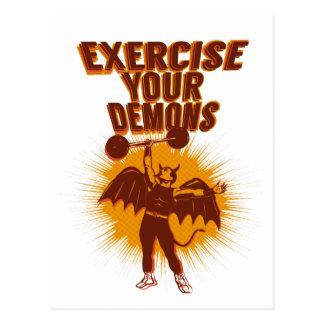 Üben Sie Ihre Dämonen aus Postkarten