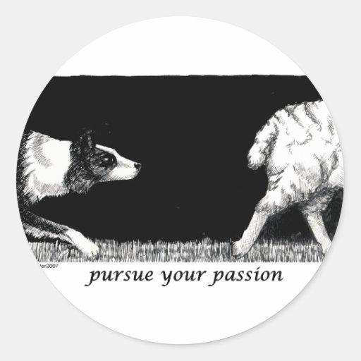 Üben Sie Ihre Leidenschaft Border-Collie aus Sticker