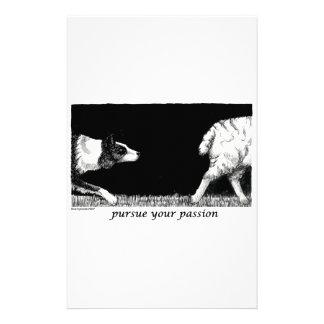 Üben Sie Ihre Leidenschaft Border-Collie aus Personalisiertes Druckpapier