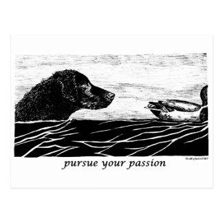 Üben Sie Ihren Leidenschafts-gelockten überzogenen Postkarte