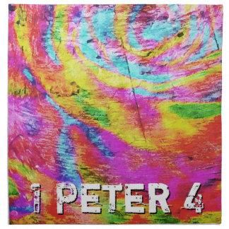 Über 1 Peter 4 Serviette