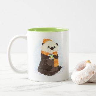Über abdominaler Feiertags-Otter-Tasse hinaus Zweifarbige Tasse